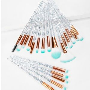 New clear handle makeup brush, 20 pieces
